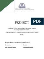 Analiza unui sistem informațional într-o organizaţie economică