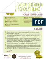 RECETA Galletas de té matcha y chocolate blanco