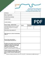 FROG Application Form