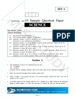 CBSE 10th Science Sample Paper 2019 Question Paper