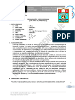Programa Curricular Anual 2014 (Quinto a y b)