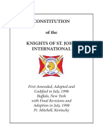 Supreme Constitution of Knights if St. John Internaltional