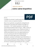 IHU Online - Metrópole como usina biopolítica.pdf