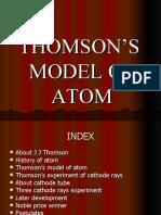 THOMSON'S  MODEL OF ATOM