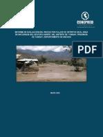 Informe de Evaluacion de Riesgo Por Flujo de Detritos en El Area de Influencia Del Sector a Norte Del Distrito de Yungay Provincia de Yungay Departame