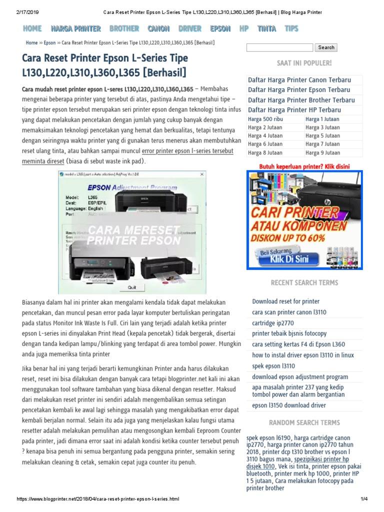 Epson L Series Printer