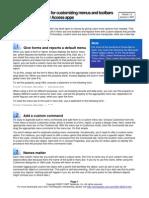 10 Tips Access Custom Menus