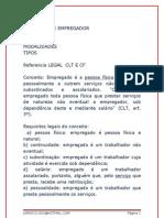 TIPOS  DE EMPREGADOS -  CLT &  CONSTITUIÇÃO FEDERAL