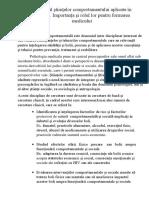 Domeniul ştiinţelor comportamentului aplicate în sănătate.docx