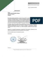 Oficio al Minam por exclusión de la CUNARC-P del proceso de consulta para reglamento de la Ley de Cambio Climático