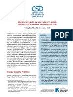 CSD(2018)Policy Brief No. 81-Energy Security in Southeast Europe--The Greece-Bulgaria Interconnector