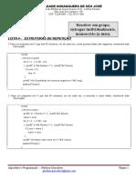 Exerc 2 Bim LISTA 4 Resolução