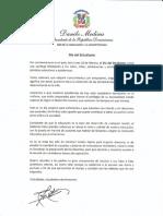 Mensaje del presidente Danilo Medina con motivo del Día del Estudiante 2019