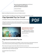 Clap Operated Toy Car Circuit