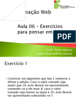 Aula 06 - Exercicios Para Pensar Em PHP
