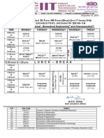 Time-Table for Sem-II 2018-19 (Section AA to AE)