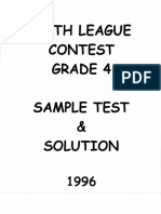 Math League Grade 4 1996
