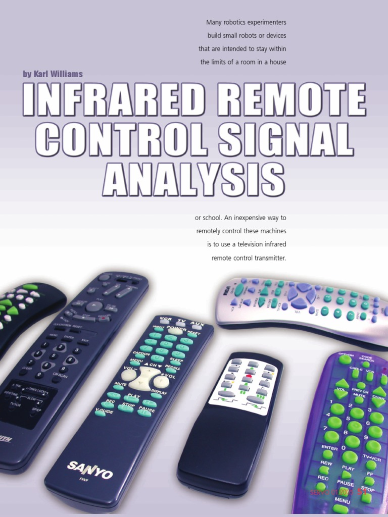 Robot A Remote Control Bit Infrared Transmitters