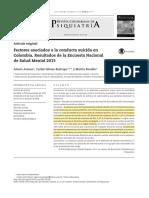 Factores asociados a la conducta suicida en Colombia. Resultados de la Encuesta Nacional de Salud Mental 2015