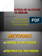 Determination of Blood Glucose