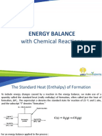 Energy Balance With Reactions