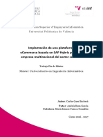 QUER - Implantación de Una Plataforma ECommerce Basada en SAP Hybris Para Una Empresa Multinacion...
