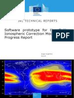 Software prototype for the Galileo Ionospheric Correction Model Progress Report