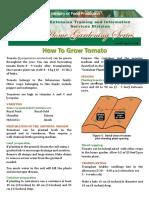 Tomato Factsheet 2013