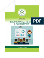 COMPARATIVE Management and Administration