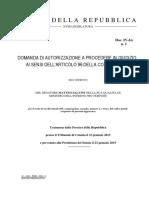 DOMANDA DI AUTORIZZAZIONE A PROCEDERE IN GIUDIZIO AI SENSI DELL'ARTICOLO 96 DELLA COSTITUZIONE