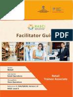 Facilitator Guide to Retail Trainee Associate