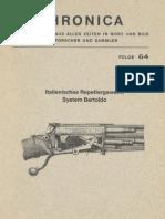 Italienisches Repetiergewehr System Bertoldo