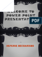Power Point Presentation Defence Mechanism