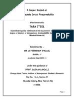 80268067 Project Report on Csr of Tata Steel
