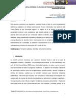 Prácticas para favorecer la diversidad en un curso de pensamiento sistémico en una Universidad Regional. Andrés Felipe Astaíza Martínez Universidad de Ibagué.