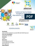 Análisis de Oportunidades Energéticas con Fuentes Alternativas en el Departamento de Nariño
