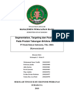 Makalah Manajemen Pemasaran Bank Tentang Segmentation, Targeting Dan Positioning Pada Produk Tabungan BritAma Bisnis PT Bank Rakyat Indonesia, Tbk. (BRI)