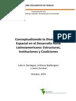 Berdegué, Bebbington, Escobal - Conceptualizando La Diversidad Espacial en El Desarrollo Rural Latinoamericano Estructuras, Institucion