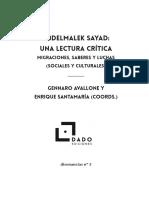 Sayad Una Lectura Critica Introduccion