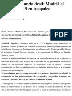 23-01-2019 Astudillo Anuncia Desde Madrid El Mulafest 2019 en Acapulco.