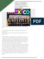 23-01-2019 Inaugura Gobernador Astudillo y Secretario de Turismo Torruco pabellón de México y Guerrero en FITUR España 2019.