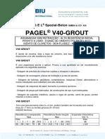 PAGEL V40 Grout - Argamassa de Selagem