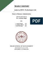 FA Project Report on HCLT Ltd