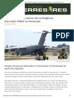 EUA Desenvolvem Planos de Contingência Para Ação Militar Na Venezuela - Forças Terrestres - ForTe