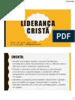 Liderança Cristã - Aula 1-2