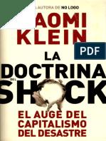 La Doctrina Del Shock Naomi Klein