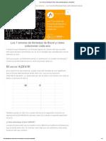 Los 7 Errores de Fórmulas de Excel y Cómo Solucionar Cada Uno - Ayuda Excel