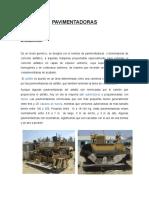 Trabajo de Pavimentadoras 2019