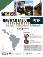 """Convocatoria Castellano al Seminario Internacional """"Habitar en las ciudades latinoamericanas"""