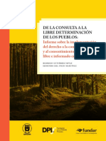 De La Consulta a La Libre Determinación de Los Pueblos